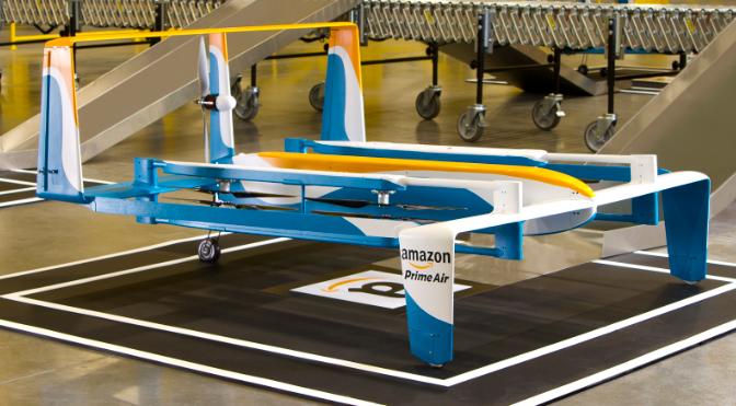 Le drone du service Amazon Prime Air