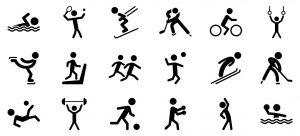 Différentes disciplines sportives.